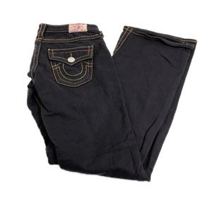 True Religion Joey Big T Fleece Pants Charcoal 28